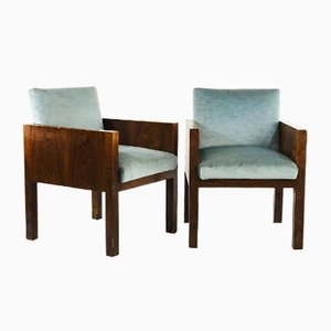 Armchairs Attributed to Franco Albini, 1940s, Set of 2