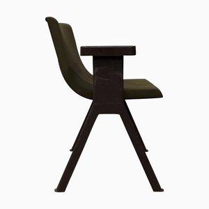 Sedia in plastica marrone di Ettore Sottsass per Olivetti Synthesis, anni '70