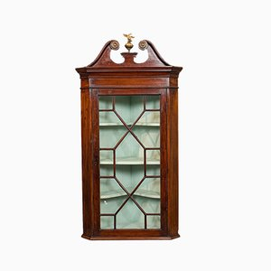 Antique English Corner Cabinet