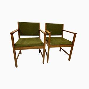 Scandinavian Teak Armchairs, 1960s, Set of 2