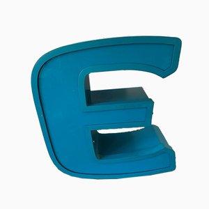 Buchstabe E aus Aluminium und Plexiglas, 1970er