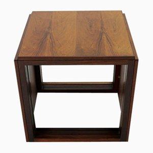 Tables Gigognes Cube en Palissandre par Kai Kristiansen pour Vildbjerg Møbelfabrik, 1963, Set de 3