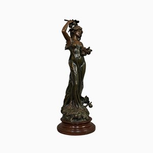 Französische Jugendstil Bronze Figur, 1920er