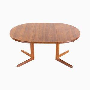 Oval Teak Dining Table, 1960s