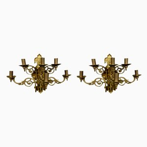 Napoleon III Sconces, Set of 2