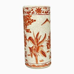 Asian Crackled Porcelain Vase, 1940s