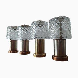 Tischlampen von Kamenicky Senov, Preciosa, 1970er Jahre, 4er-Set