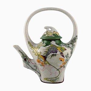 Art Nouveau Teapot Decorated with Coy Fish, Colenbrander, Netherlands