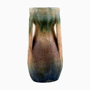 Einzigartige französische Vintage Vase aus glasierter Keramik