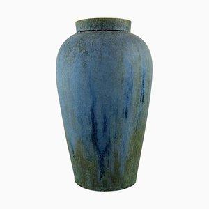 Vase In Glazed Ceramics, 1940s, Denbac, France
