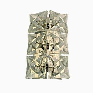 Lampada da parete Space Age in vetro di Kinkeldey, anni '60