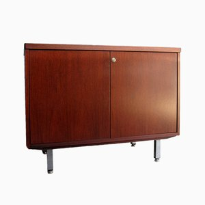 Vintage Rosewood and Chrome Office Sideboard