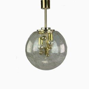 Lampada da soffitto Space Age con lampadina in vetro di Doria, anni '60