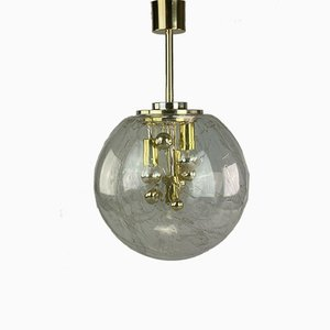 Space Age Glass Bulb Ceiling Lamp from Doria, 1960s