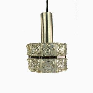 Space Age Deckenlampe aus Glas von Sölken Leuchten, 1960er
