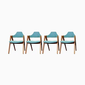 Danish Teak Chairs Dining Chairs by Kai Kristiansen for SVA Møbler, 1960s, Set of 4