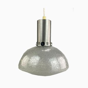 Space Age Ball Hanging Lamp in Glass, 1970s