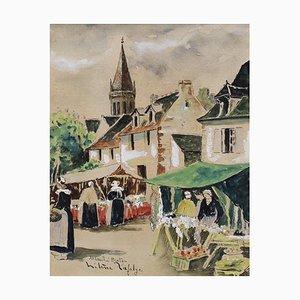 Bretonischer Markt von Hélène Lafolye, 1930er Jahre