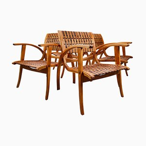 Bauhaus Bentwood Armchairs by Erich Dieckmann, Germany, 1930s, Set of 4