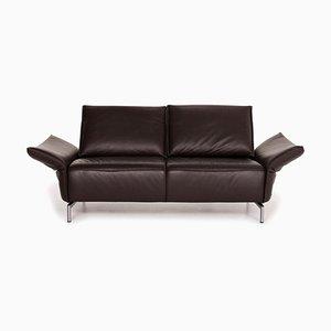 Dark Brown Vanda Leather 2-Seat Sofa from Koinor