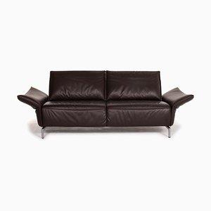 Dark Brown Vanda Leather 3-Seat Sofa from Koinor