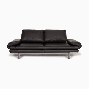 Anthracite Plura Leather Sofa by Rolf Benz