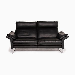 Black Leather 2-Seat Sofa from Erpo