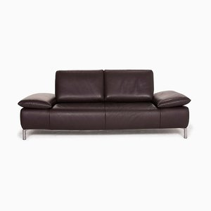 Dark Brown Goya Leather 3-Seat Sofa from Koinor