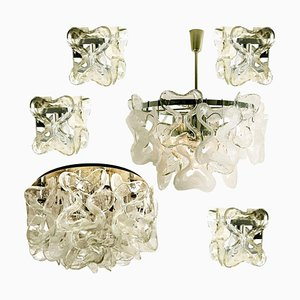 Catena Murano Glass Light Fixtures by J.T. Kalmar, Set of 6
