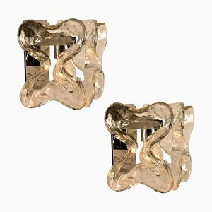 Model Catena Wall Sconces or Lights by J.T. Kalmar, Austria, Set of 2