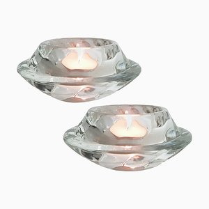 Crystal Glass Votive Candleholders from Royal Copenhagen, Set of 2