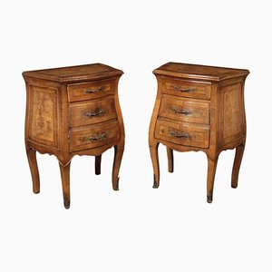 Chippendale Style Bedside Tables, Set of 2