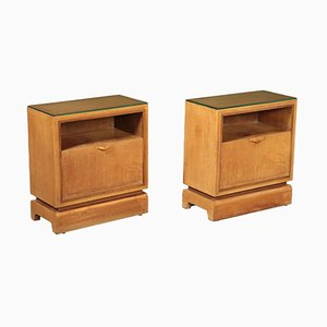 Bedside Tables, 1940s, Set of 2