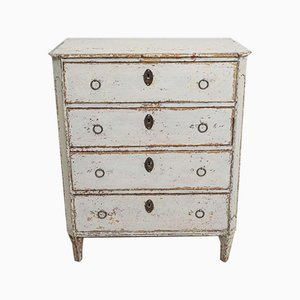 18th Century Gustavian Painted Commode with Bureau