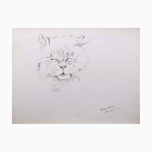 Marie Paulette Lagosse, The Cat, Pen on Paper, 1970s