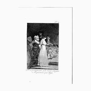 Francisco Goya, Die Hand, wenn sie sprechen, Radierung, 1799