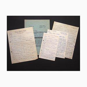 Ossip Zadkine, cinco autógrafos de Ossip Zadkine para Nesto Jacometti, años 50