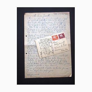 Eduard Wiiralt, Autogramme von Eduard Wiiralt an Nesto Jacometti, 1940