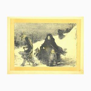 Charles Lucien Leandre, Noël, lithographie, 1897