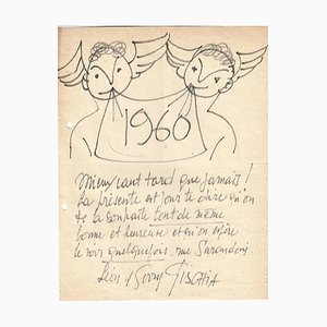 Léon Gischia, Happy New Year, Drawing, 1960