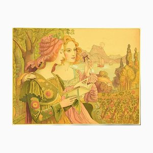 Armand Point, Légende dorée, Lithographie, 1898