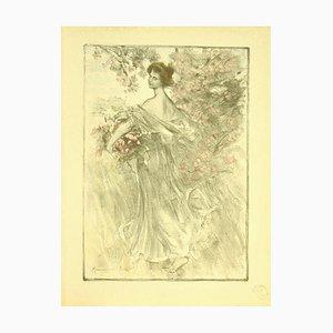 Maurice Eliot, Primavera, Litografía, 1898