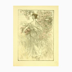 Maurice Eliot, Printemps, Lithographie, 1898
