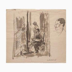 Raymond Cazanove, pintor, acuarela, mediados del siglo XX