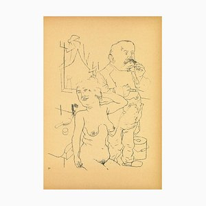 George Grosz, Couple, Offset and Lithograph, 1923