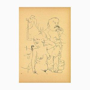 George Grosz, Couple, offset et lithographie, 1923