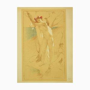 Antoine Calbet, El desconocido, litografía, 1897