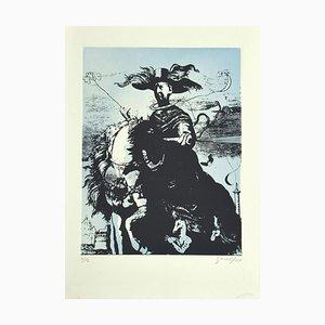 Guelfo Bianchini, Hommage an De Chirico, Radierung, 1970er Jahre