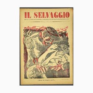 Mino Maccari, the Wild # 4, Kunstmagazin mit Original Holzschnitten, 1933