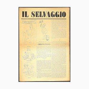 Mino Maccari, The Wild # 1, Kunstzeitschrift mit Original Holzschnitten, 1933